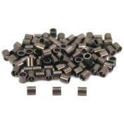 100 Crimp Tube Beads Jewellery Beading Gun Metal Plated