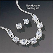 Sparkling Crystal Frontal Necklace Gift Set
