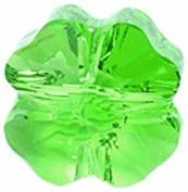 . Elements 4-Pack Clover Beads, Transparent Finish, 12mm, Fern Green