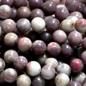 LEPIDOLITE 10MM ROUND GEMSTONE BEADS #2Z STRAND
