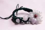 Jade Flower Bracelet - for fortune - J174