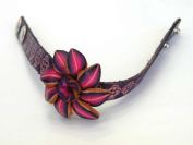 100% Hand-Made Leather Small Bracelets-Unique Leather Crafts w/Leather Arts, Gorgeous Leather Crafts, 100% Hand Made Leather Bracelet with Flowers Designs , 1.1cm W x 20cm L , w/2 Adjustment Clip-On Buttons, Unique and Fashion ,Perfect for A Gift, Each ..