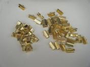 """Ribbon Clamp, Wholesale 120 Pcs -60 -6mm(1/4"""")+ 60 - 13mm (1/2"""") Gold Colour"""