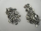 Ribbon Clamp, Wholesale 120 Pcs -8mm,10mm, Platium Colour