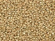Seed Beads Czech 13/0 Charlotte Cut Metallic (a one hank pack) Gold