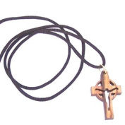 Modern Crucifix Celtic style - olive wood necklace, necklace is 60cm long - 23.5 inches )