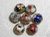 100pcs New 12mm Handmade Mix Round Cloisonne Beads - CLSN12