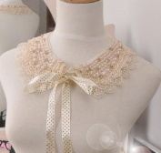 Lace Victorian Collar Necklace with Pearls and Gems