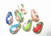 100 New 7x13mm Drop Mix Filigree Cloisonne Beads