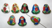 80 13x16mm Handmade Frog Mix Cloisonne Beads