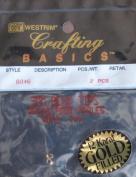 Westrim Crafting Basics 12 KT GOLD Filled BEAD TIPS 3mm Size
