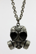 Gothic Gas Mask Necklace Thick Base Metal Chain