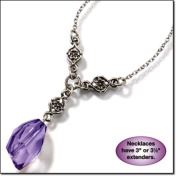 AVON - new Vintage Purple Faceted Y Necklace
