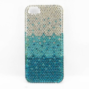 Sky blue Layered Gradient Diamond Rhinestone Crystal Bling Glitter Hard Case Cover Iphone 5C