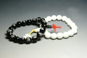 10mm LUOS Tibetan Buddhist Yin Yang Bracelet for Meditation J134- Free Gift
