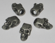 10 Metal Antiqued Skull Beads for 550 Paracord Bracelets, Lanyards, & Other Projects