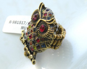 Fabulous Fashion Stretch Rings-Gorgeous Owl Design w/Rhinestones Around ,Elegant and Attractive,One Size Fits All (2.5cm x 4.5cm) A Great Gift For Your Friends or Loved Ones.Put On a Touch Of Unexpected Whimsy Whenever You Wear This Too-Cute Critter. E ..