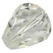 100 10x8mm Adabele Austrian TearDrop Crystal Beads Crystal Clear Alternative For .  Preciosa Crystalized 5500