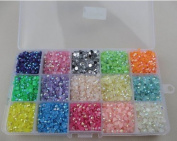 4mm 15000pcs Mix Colour crystal candy stone acrylic beads Beautiful decoration and DIY nail art