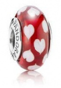 Pandora Red Sweethearts Glass Murano Bead Charm Gift for Mom, Daughter Mother