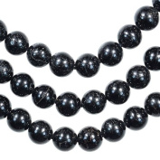 Black Tourmaline 6mm Round Bead Strand 15""