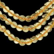"""Yellow Citrine 6mm Smooth Beads Genuine Strand Round 15.75"""""""