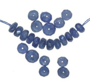 Blue Sapphire Rondelle Beads Facet Natural Genuine 4mm-5mm