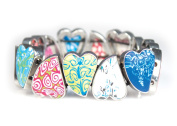 Viva Beads Magical Multi Bangle | Pebble Heart | - Handmade Clay Beads Jewellery 05420120