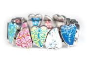 Viva Beads Magical Multi Bangle | Pebble Heart | - Handmade Clay Beads Jewellery 05420120