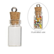 50 Mini Glass Bottles 2.5cm Message Treasure Charm Pendant Kit Makes 50 Bottle Pendants