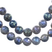 "Labradorite Faceted Round Beads Medium ~8mm 15.5"" Strand"
