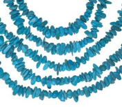 Turquoise ~4mm Nevada Mine Mini Chip Nugget Beads Strand Genuine 15.5""