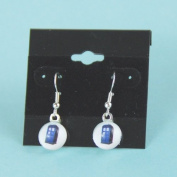 Doctor Who Tardis Earrings, Police Box Hanging Silver Earrings,