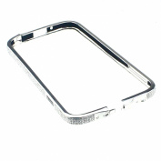 Diamond Crystal Bling Aluminium Metal Bumper Hard Silvery Case Cover for Samsung Galaxy S4