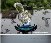 2014. 2013 New Blue Crystal Thumbs Car Air Freshener Perfume Bottle Empty