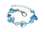 Viva Beads Blue Bikini Bracelet | Heart Medallion | - Handmade Clay Beads Jewellery 05403521