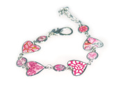Viva Beads Pink Paradise Bracelet | Heart Medallion | - Handmade Clay Beads Jewellery 05403522