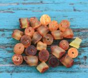 50 Pcs Loose Raw Baltic Amber Beads