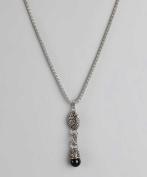 Regal Jewellery Black Drop Pendant Necklace