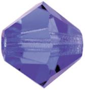 Mode Beads Preciosa Crystal Bicones Beads, Deep Tanzanite, 1 Gross Package