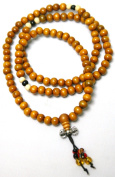 Wooden Mala Beads (Light Brown) 6mm-8mm