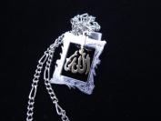 Allah Two Tone Gold Silver Necklace Islamic Koranic Gift Islam Muslim God Arabic Alah
