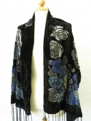 Soft Velvet Burnout Scarf-Gorgeous Italy Fashion Silk Burnout Velvet Scarf w/ Elegant Designs, Smooth,Soft Touch Throughout . Soft Touch , Fashionable For All Seasons to Use.Convenient Size at 60cm x 160cm +18cm x 2 All Year Round. Perfect For Birthday ..