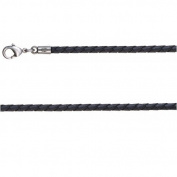 Black Braided PVC Bico Choker 60cm .