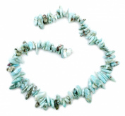 "10mm to 20mm Larimar Gemstone chip beads 15"" strand"