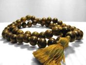 11mm 54 Green Sandalwood Beads Tibetan Buddhist Prayer Meditation Om Mala /w Gift Pouch