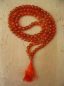 Carnelian Mala 108 Beads on Unknotted String