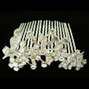 Fashion Tree Flower Hair Comb Pin Wedding Hair Bow Pinczech Crystal Hair Jewellery