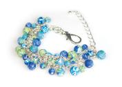 Viva Beads Blue Bikini Bracelet | Beaded Mesh Chain | - Handmade Clay Beads Jewellery 05407021