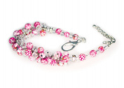 Viva Beads Pink Paradise Bracelet | Crystal Cluster | - Handmade Clay Beads Jewellery 05405222